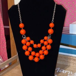 New beautiful orange necklace! 3 layers!